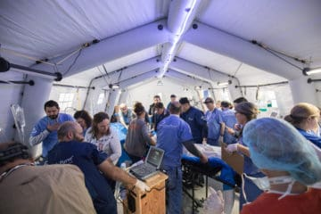 Our medical team in Iraq is busy treating patients with severe injuries at our field hospital.