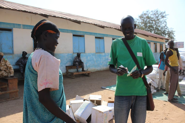 Food distribution in South Sudan