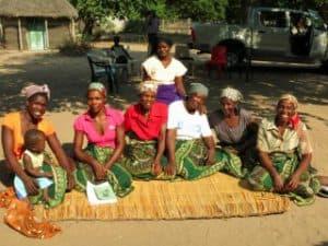 Six women sitting together