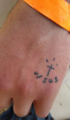 Wearing A Cross For Jesus