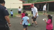 CPS members play soccer with kids in Costa Rica